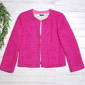 J. Crew Astrid Boucle Jacket Pink